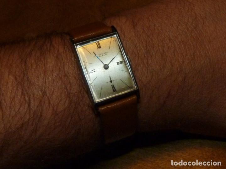 BELLO RELOJ UNIVERSAL GENEVE SWISS MADE RARO CALIBRE 230 AÑOS 40 DIFÍCIL ELEGANTE VINTAGE COLECCIÓN (Relojes - Pulsera Carga Manual)