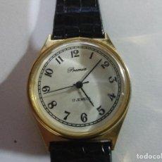 Relojes de pulsera: RELOJ PREMIA HOMBRE, DE CUERDA, HOMBRE, 35 MM, FUNCIONA, FALTA CORONA. Lote 142436350