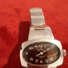 Relojes de pulsera: RELOJ DE SEÑORAS DE CUERDA MARCA CAUNY. Lote 142598250