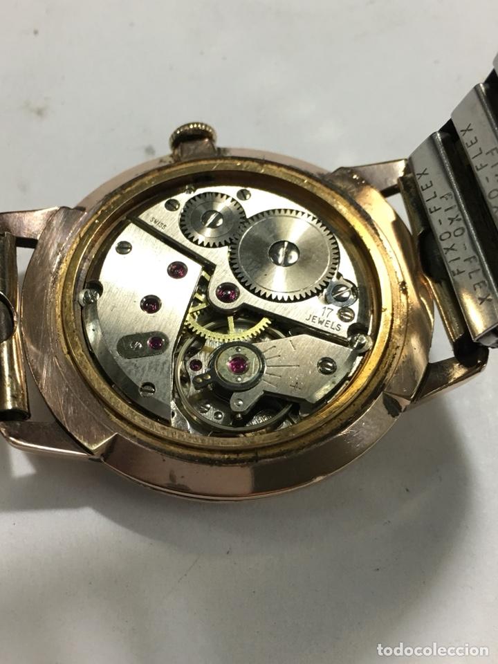 Relojes de pulsera: Reloj Oscar 17 rubis carga manual y caja chapada oro con correa flexible chapada oro - Foto 7 - 142600865