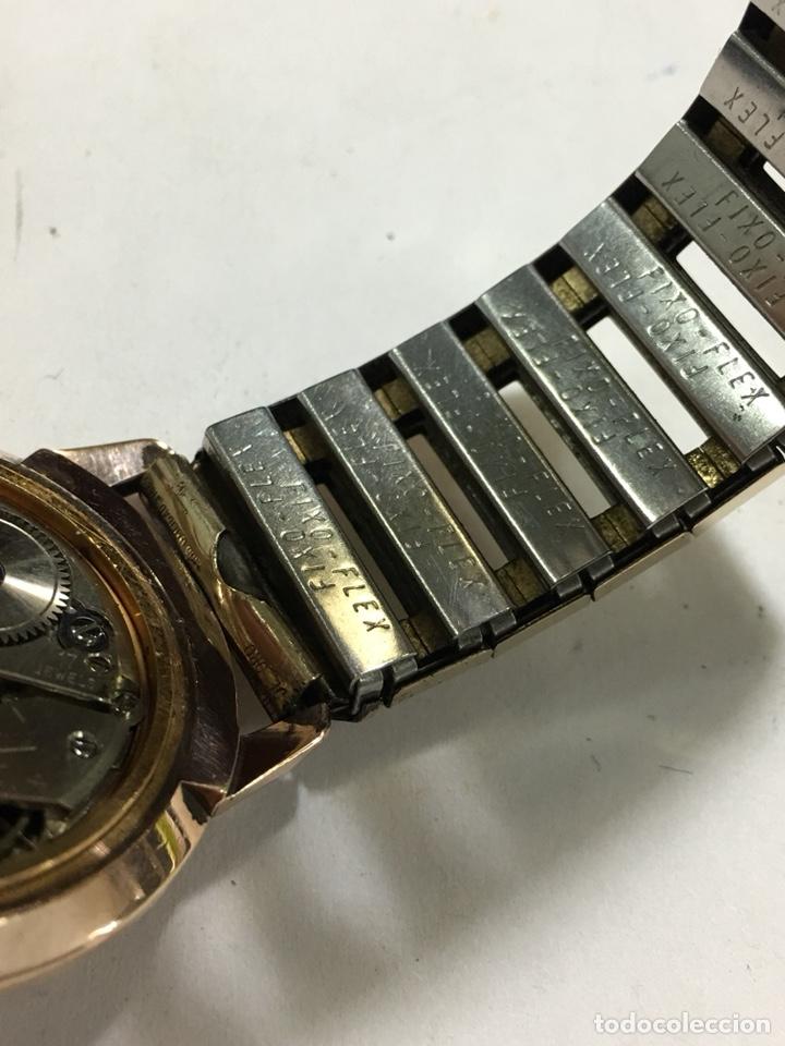 Relojes de pulsera: Reloj Oscar 17 rubis carga manual y caja chapada oro con correa flexible chapada oro - Foto 8 - 142600865