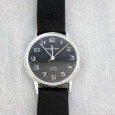 Relojes de pulsera: RELOJ PRATINA DE CUERDA, FUNCIONANDO, HOMBRE, 35 MM S.C.C. TIENE ARAÑAZOS EN CRISTAL.. Lote 142862714