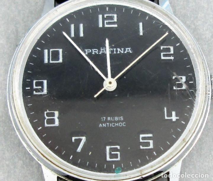 Relojes de pulsera: reloj pratina de cuerda, funcionando, hombre, 35 mm s.c.c. tiene arañazos en cristal. - Foto 4 - 142862714