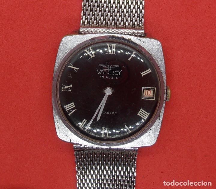 RELOJ VANROY DE CUERDA, FUNCIONANDO, SE ADELANTA MUCHO, HOMBRE, 31 MM S.C.C.VINTAGE. (Relojes - Pulsera Carga Manual)