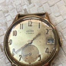 Relojes de pulsera: ANTIGUO RELOJ RADAR BAÑO ORO, NO FUNCIONA, FISURA EN CRISTAL. HOMBRE 32 MM S.C.C.. Lote 142872918