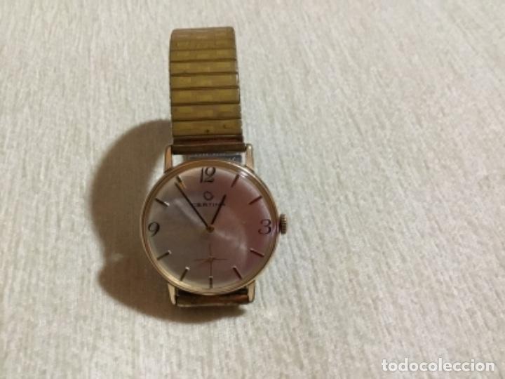 RELOJ CERTINA CHAPADO ORO.AÑOS 60.FUNCIONA PERFECTAMENTE.PULSERA EXTENSIBLE.ELEGANTE. (Relojes - Pulsera Carga Manual)