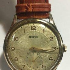 Relojes de pulsera: RELOJ NARVA ESFERA ESPECIAL CARGA MANUAL Y CAJA CHAPADA PARA COLECCIONISTAS EN FUNCIONAMIENTO. Lote 143389558