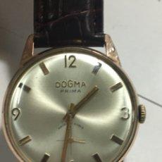 Relojes de pulsera: RELOJ DOGMA PRIMA CARGA MANUAL Y CAJA CHAPADA ORO COMO NUEVO PARA COLECCIONISTAS. Lote 143391250