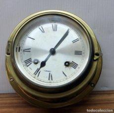 Relojes de pulsera: ANTIGUO RELOJ NAUTICO ALEMAN BARCO 8 DIAS SONERIA LATON 18 X 8 CM PERFECTO FUNCIONAMIENTO 530,00 €. Lote 143635474