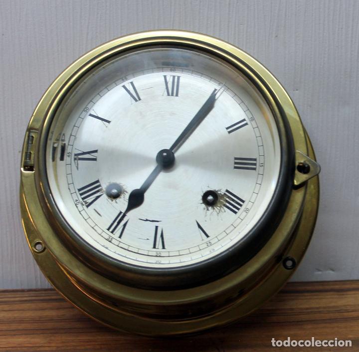 Relojes de pulsera: ANTIGUO RELOJ NAUTICO ALEMAN BARCO 8 DIAS SONERIA LATON 18 X 8 CM PERFECTO FUNCIONAMIENTO 530,00 € - Foto 2 - 143635474