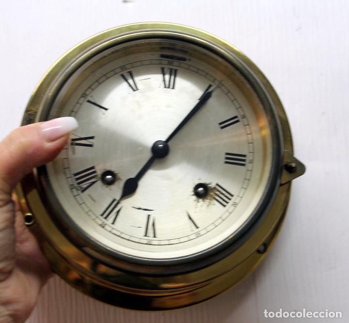 Relojes de pulsera: ANTIGUO RELOJ NAUTICO ALEMAN BARCO 8 DIAS SONERIA LATON 18 X 8 CM PERFECTO FUNCIONAMIENTO 530,00 € - Foto 3 - 143635474