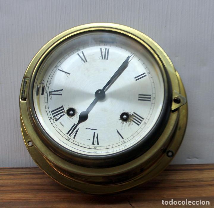 Relojes de pulsera: ANTIGUO RELOJ NAUTICO ALEMAN BARCO 8 DIAS SONERIA LATON 18 X 8 CM PERFECTO FUNCIONAMIENTO 530,00 € - Foto 5 - 143635474