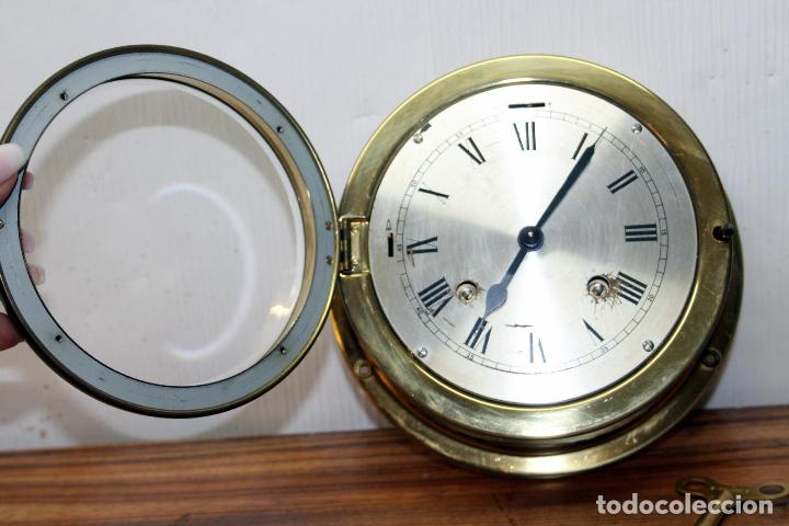 Relojes de pulsera: ANTIGUO RELOJ NAUTICO ALEMAN BARCO 8 DIAS SONERIA LATON 18 X 8 CM PERFECTO FUNCIONAMIENTO 530,00 € - Foto 7 - 143635474