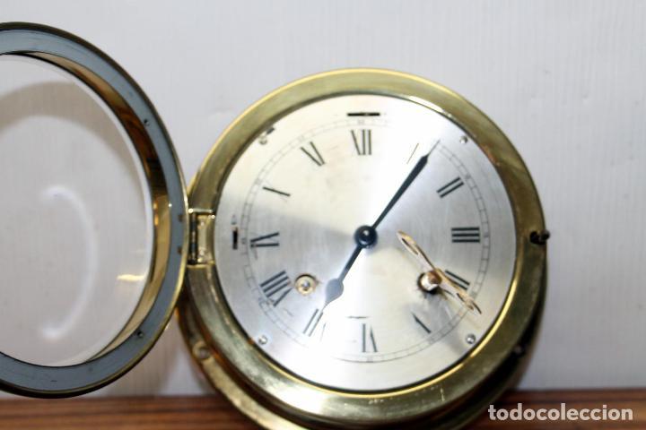Relojes de pulsera: ANTIGUO RELOJ NAUTICO ALEMAN BARCO 8 DIAS SONERIA LATON 18 X 8 CM PERFECTO FUNCIONAMIENTO 530,00 € - Foto 9 - 143635474