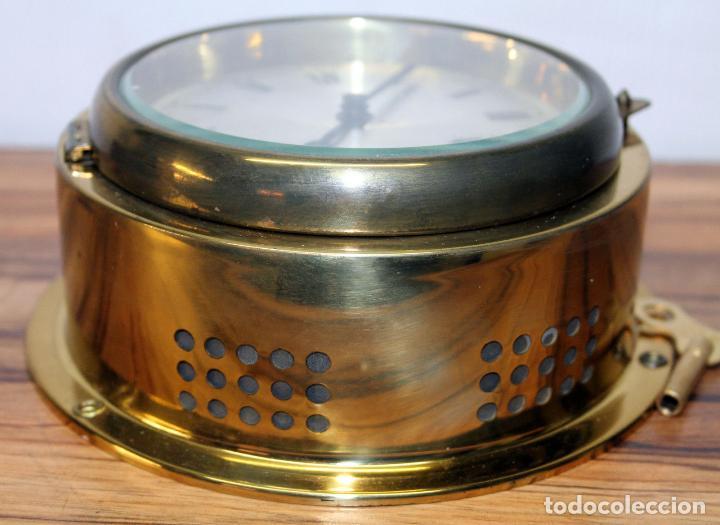 Relojes de pulsera: ANTIGUO RELOJ NAUTICO ALEMAN BARCO 8 DIAS SONERIA LATON 18 X 8 CM PERFECTO FUNCIONAMIENTO 530,00 € - Foto 10 - 143635474