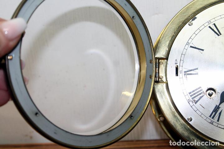 Relojes de pulsera: ANTIGUO RELOJ NAUTICO ALEMAN BARCO 8 DIAS SONERIA LATON 18 X 8 CM PERFECTO FUNCIONAMIENTO 530,00 € - Foto 15 - 143635474