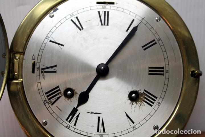 Relojes de pulsera: ANTIGUO RELOJ NAUTICO ALEMAN BARCO 8 DIAS SONERIA LATON 18 X 8 CM PERFECTO FUNCIONAMIENTO 530,00 € - Foto 16 - 143635474