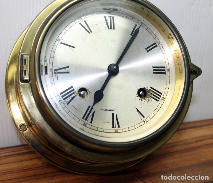 Relojes de pulsera: ANTIGUO RELOJ NAUTICO ALEMAN BARCO 8 DIAS SONERIA LATON 18 X 8 CM PERFECTO FUNCIONAMIENTO 530,00 € - Foto 18 - 143635474