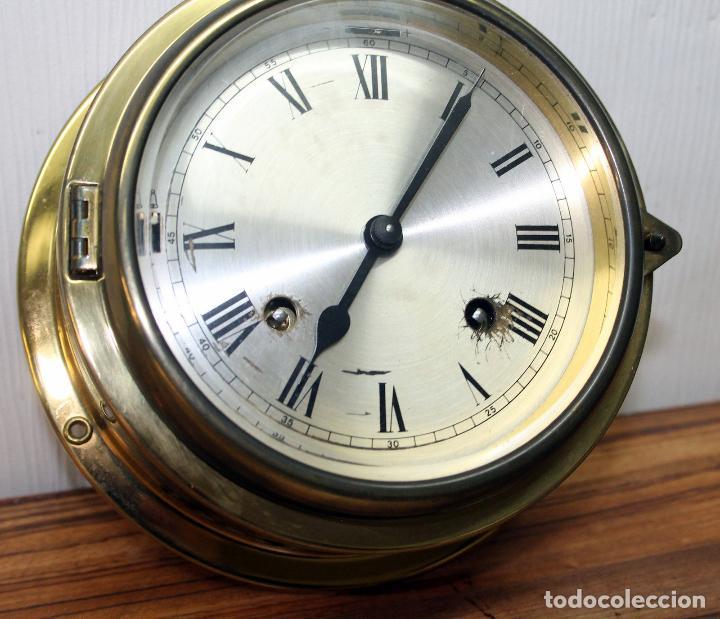Relojes de pulsera: ANTIGUO RELOJ NAUTICO ALEMAN BARCO 8 DIAS SONERIA LATON 18 X 8 CM PERFECTO FUNCIONAMIENTO 530,00 € - Foto 20 - 143635474