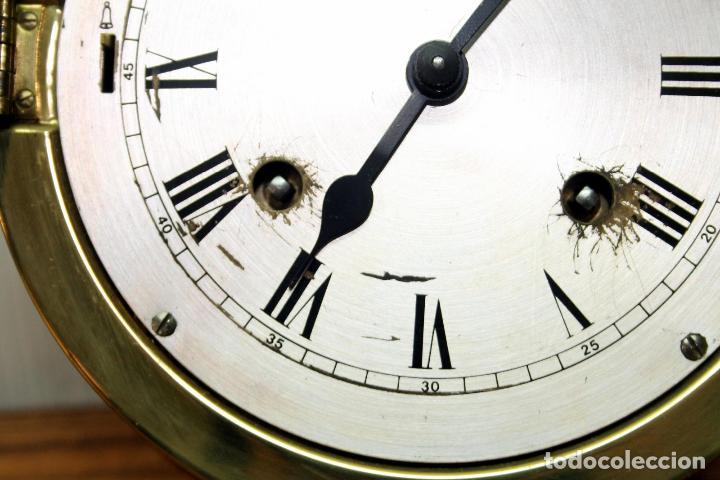 Relojes de pulsera: ANTIGUO RELOJ NAUTICO ALEMAN BARCO 8 DIAS SONERIA LATON 18 X 8 CM PERFECTO FUNCIONAMIENTO 530,00 € - Foto 21 - 143635474