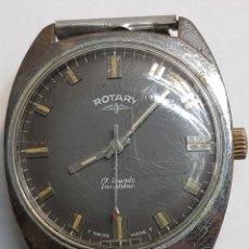 Relojes de pulsera: RELOJ ANTIGUO ROTARY CARGA MANUAL 17 JEWELS FUNCIONANDO. Lote 143777121