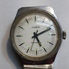 Relojes de pulsera: RELOJ ANTIGUO DE CUERDA RUHLA GDR FUNCIONANDO. Lote 143777248