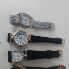 Relojes de pulsera: 4 RELOJES CARTIER QUARTZ VARIADOS ( REPRODUCCIÓN?)CAMBIAR PILAS. Lote 143807426