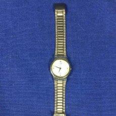 Relojes de pulsera: RELOJ CITIZEN DORADO PULSERA CORREA ORIGINAL PLANO JAPAN 6031 G18060 Y DIAM CAJA 3CMS. Lote 143995058