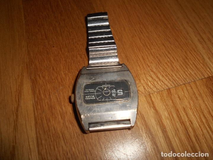 Relojes de pulsera: Reloj EDWARD BULER SUPER-NOVA INCABLOC 17JEWELS DE CUERDA SWISS MADE FUNCIONANDO TODO ORIGINAL - Foto 4 - 144009482