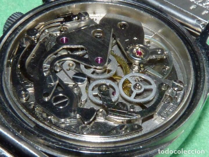 Relojes de pulsera: RARISIMO RELOJ THERMIDOR CRONOMETRO VALJOUX 7733 SWISS MADE CRONO ACERO 17 RUBIS MILANESA - Foto 8 - 144622514