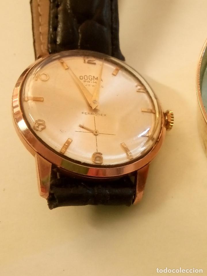 DOGMA - MANUAL. AÑOS 50. FUNCIONANDO. 35.1 MM. S/C. P. ORO. TESTADO Y AJUST. INFO EN DESCRIPCION. (Relojes - Pulsera Carga Manual)
