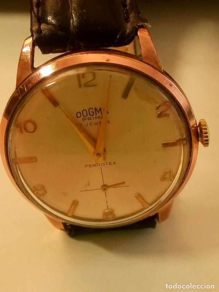 Relojes de pulsera: DOGMA - MANUAL. AÑOS 50. FUNCIONANDO. 35.1 MM. S/C. P. ORO. TESTADO Y AJUST. INFO EN DESCRIPCION. - Foto 5 - 231014475