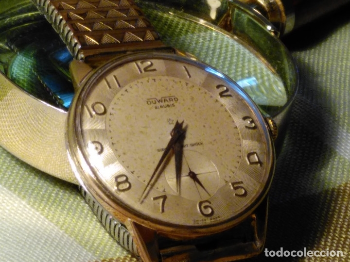 DUWARD - MANUAL. AÑOS 50. FUNCIONANDO BIEN. 37.5 S/C. 21 R. P.ORO 10 M. DESCRIP. Y FOTOS. (Relojes - Pulsera Carga Manual)