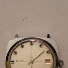 Relojes de pulsera: RELOJ DE PULSERA CABALLERO CARGA MANUAL EDEN,NO FUNCIONA. Lote 144877126