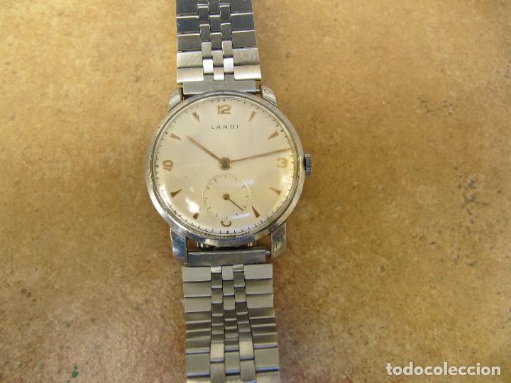 Relojes de pulsera: ANTIGUO RELOJ DE CUERDA DE PULSERA DE LA MARCA LANDI - Foto 2 - 125185223