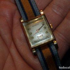 Relojes de pulsera: PRECIOSO RELOJ BENRUS ORO 14K ART DECO TIPO TANK CALIBRE AX11 ORIGINAL AÑOS 30. Lote 122721935