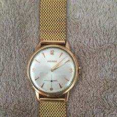 Relojes de pulsera: RELOJ ORO 18K MARCA MOVADO DE CUERDA 39MM AÑO 1960 COMPLETAMENTE REVISADO. Lote 145246466
