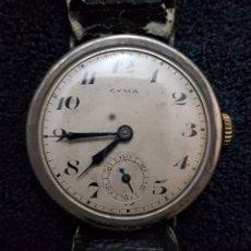 Relojes de pulsera: RELOJ PULSERA PLATA CYMA AÑOS 30. Lote 145398800