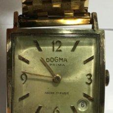 Relojes de pulsera: RELOJ DOGMA PRIMA CHAPADO EN ORO Y CADENA TAMBIEN ,PIEZAS ORIGINALES RELOJ. Lote 145616642