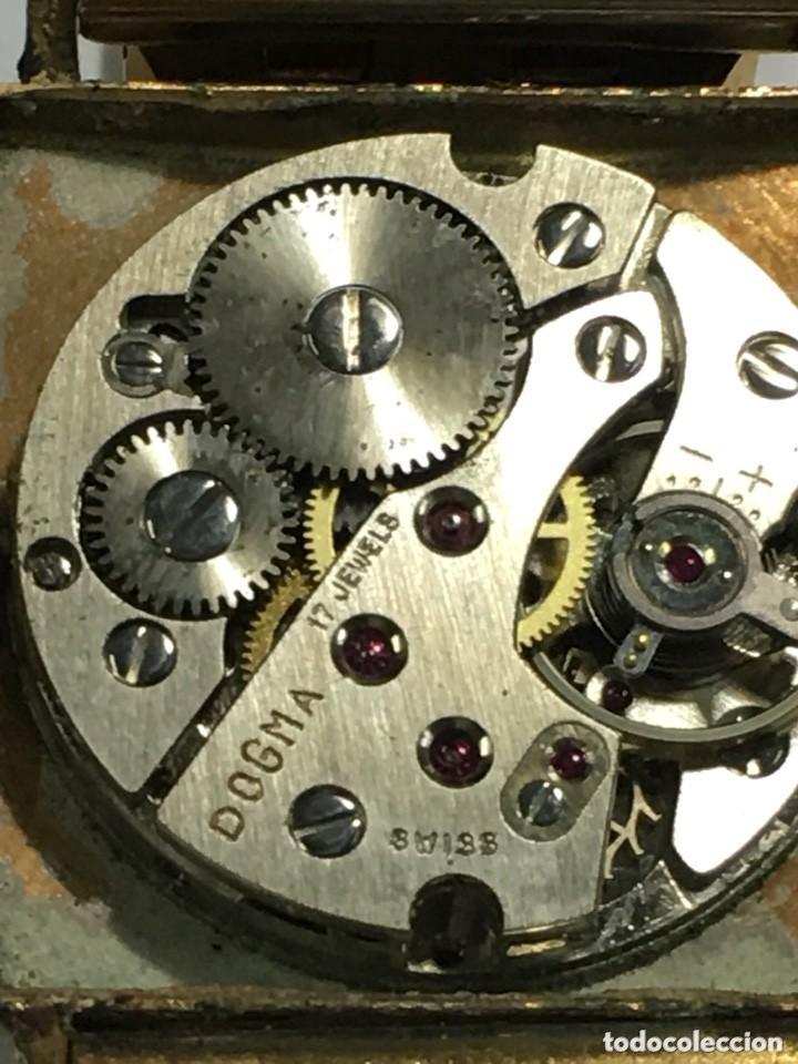 Relojes de pulsera: reloj dogma prima chapado en oro y cadena tambien ,piezas originales reloj - Foto 2 - 145616642