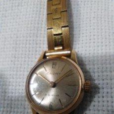 Relojes de pulsera: RELOJ DE CUERDA MARCA CAUNY PRIMA DE SEÑORA, TIENE AL MENOS 60 AÑOS. Lote 145620058