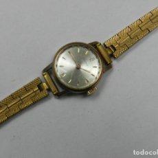 Relojes de pulsera: PRECIOSO RELOJ DE MUJER CAUNY COLOR DORADO EXCELENTE OBJETO. Lote 146197830