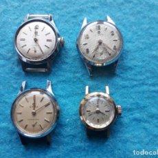 Relojes de pulsera: LOTE DE 4 RELOJES CYMA MECÁNICOS ANTIGUOS PARA DAMA. SWISS MADE. Lote 146291658