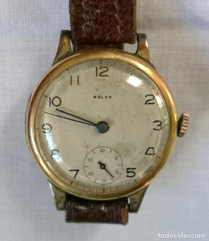 ROLEX WD. ORO 9KT. NECESITA REVISIÓN Y ALGUNA REPARACIÓN. SUIZA. PRINC. S. XX (Relojes - Pulsera Carga Manual)