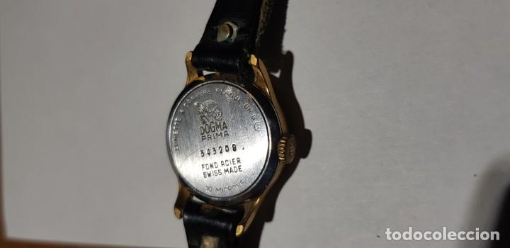 Relojes de pulsera: RELOJ DOGMA PRIMA 15 RUBÍS PLAQUÉ DE ORO 543208 - Foto 2 - 146434850