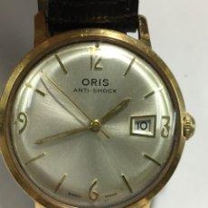 Relojes de pulsera: RELOJ ORIS CARGA MANUAL Y CAJA CHAPADA ORO VINTAGE PARA COLECCIONISTAS. Lote 146617564