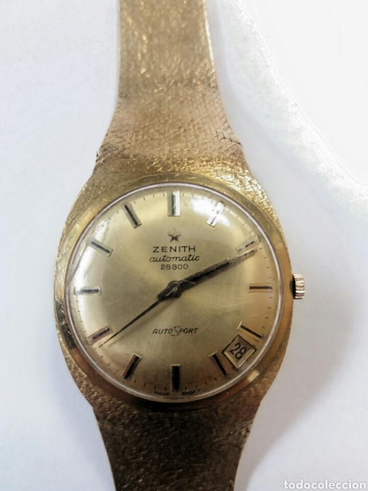 Relojes de pulsera: IMPRESIONANTE RELOJ ZENITH DE ORO - Foto 2 - 146878338