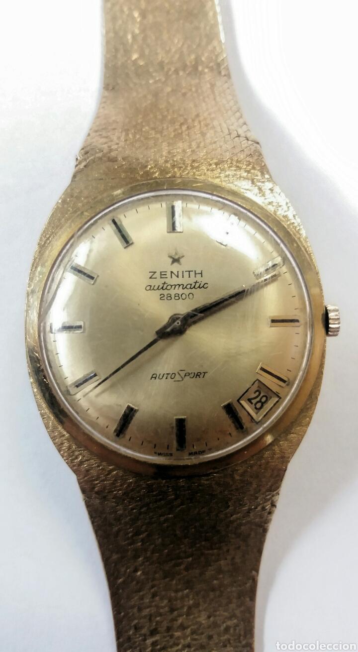 Relojes de pulsera: IMPRESIONANTE RELOJ ZENITH DE ORO - Foto 4 - 146878338