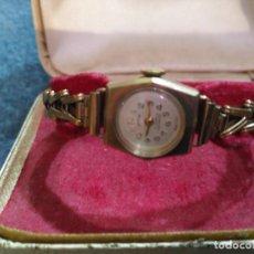 Relojes de pulsera: INPRESIONANTE RELOJ PULSERA ORO MACIZO 9 KT.16 GM MUJER COMO NUEVO VICTORIANO MEDIADOS XIX CAJA. Lote 146951210