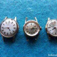 Relojes de pulsera: LOTE DE 3 RELOJES CERTINA DE DAMA MECÁNICOS ANTIGUOS. SWISS MADE.. Lote 147018766